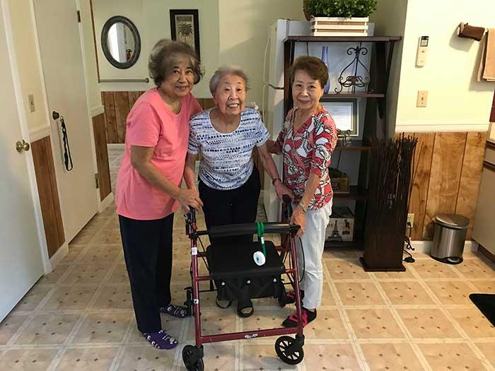 Mililani HC 3 senior ladies in atrium